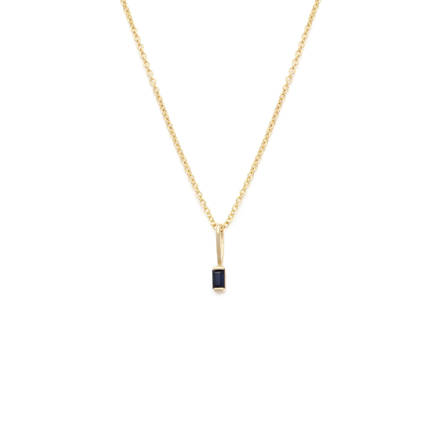 Coveted Sapphire Pendant - 14k Solid Gold
