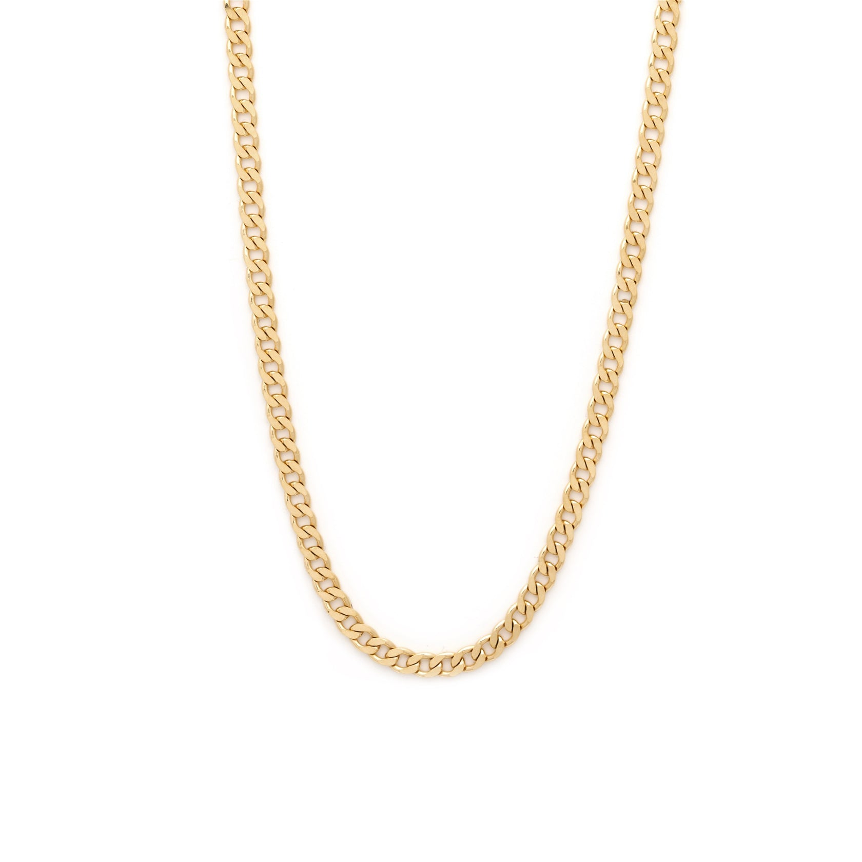 Men's Thick Curb Chain - 10k Solid Gold