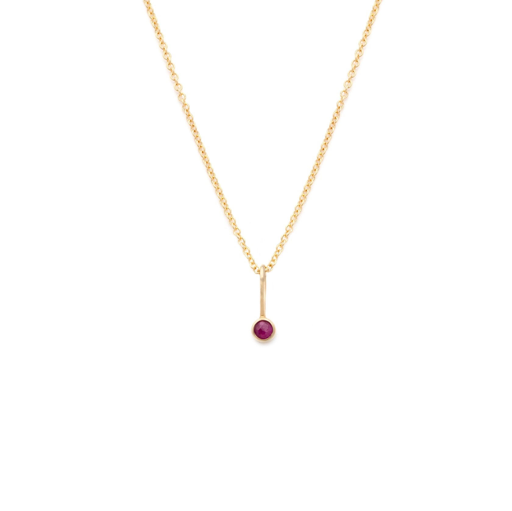 Coveted Ruby Pendant - 14k Solid Gold