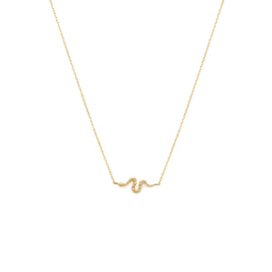 Serpent Necklace - 14k Solid Gold