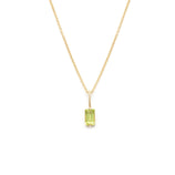 Load image into Gallery viewer, Peridot Pendant - 14k Solid Gold