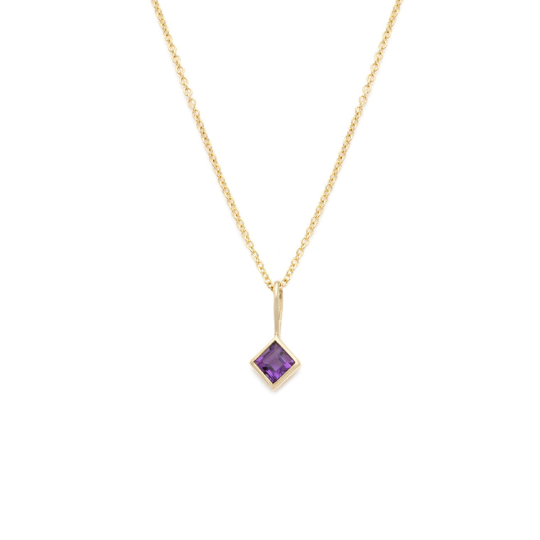 Coveted Amethyst Pendant - 14k Solid Gold