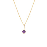 Load image into Gallery viewer, Amethyst Pendant - 14k Solid Gold