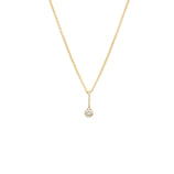 Load image into Gallery viewer, White Sapphire Pendant - 14k Solid Gold
