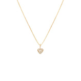 Load image into Gallery viewer, Pave Heart Pendant - 10k Solid Gold