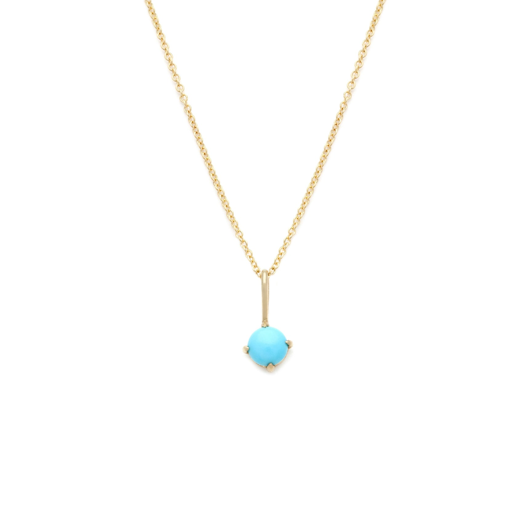 Turquoise Pendant - 14k Solid Gold