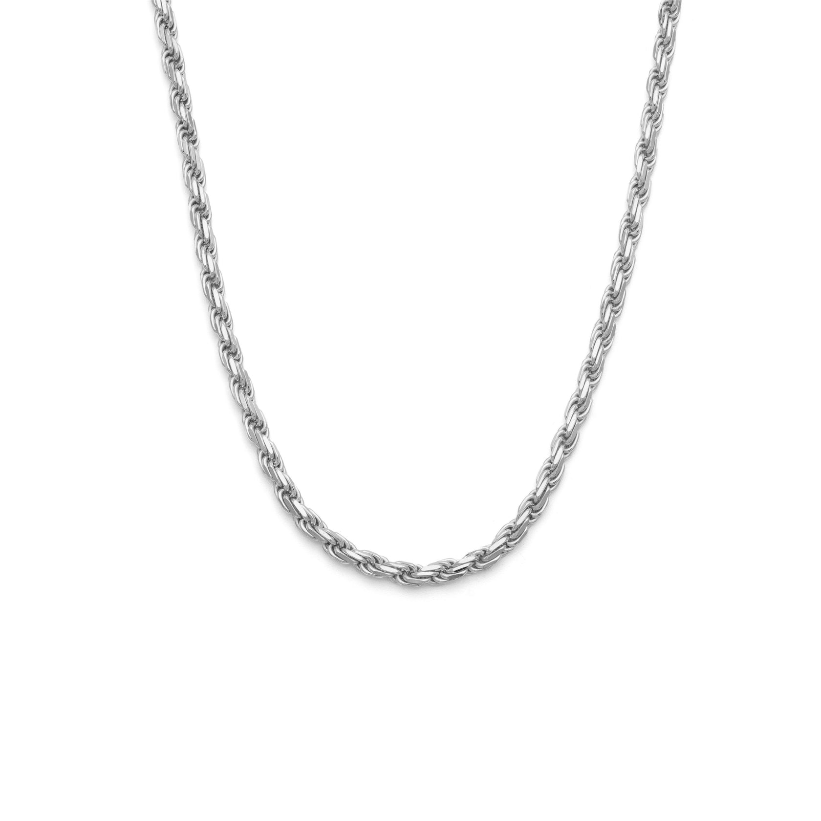 Thick Rope Chain - Sterling Silver