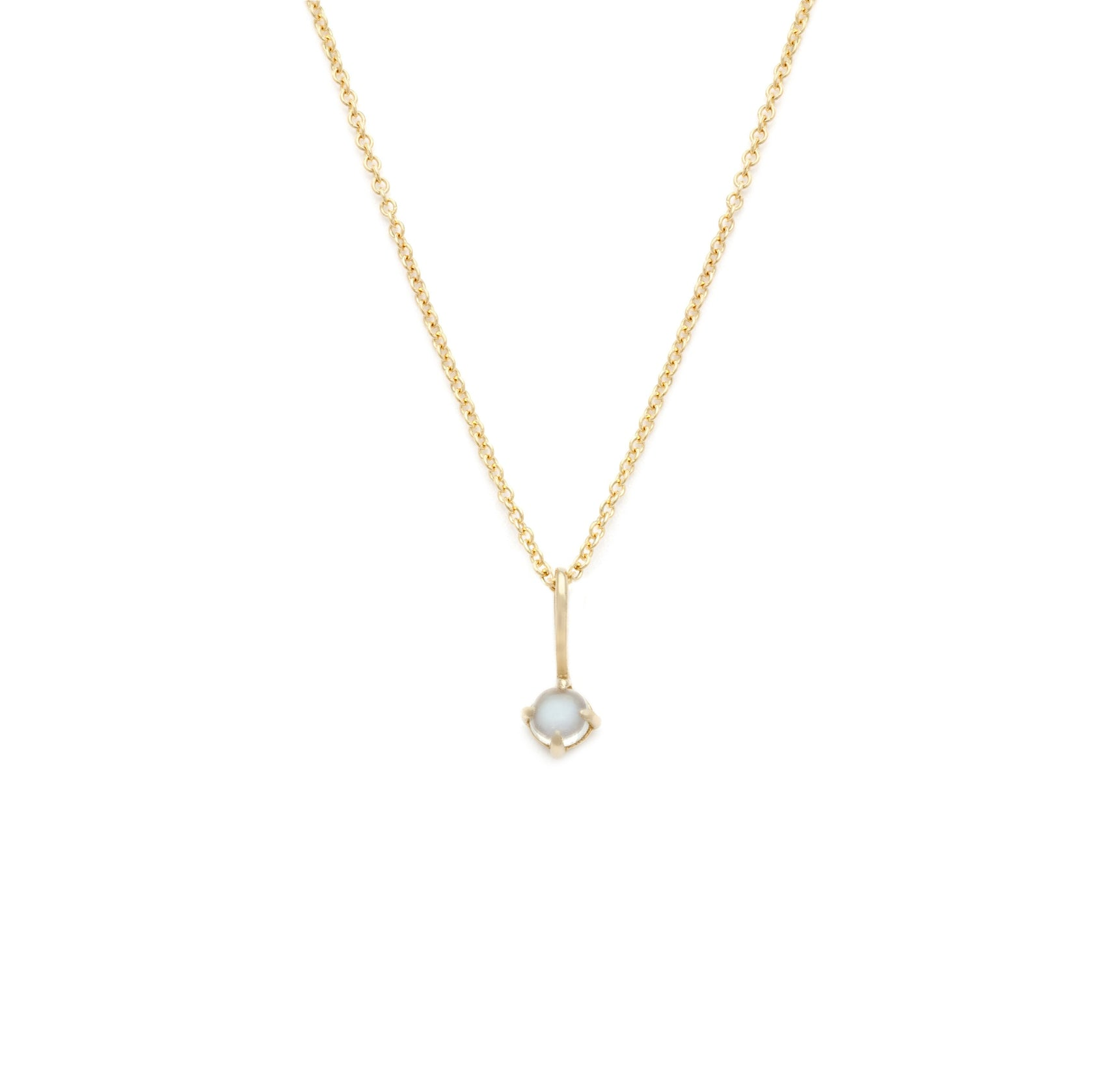 Coveted Moonstone Pendant - 14k Solid Gold