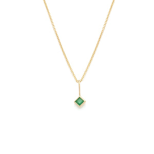 Coveted Emerald Pendant - 14k Solid Gold