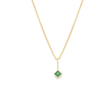 Load image into Gallery viewer, Emerald Pendant - 14k Solid Gold