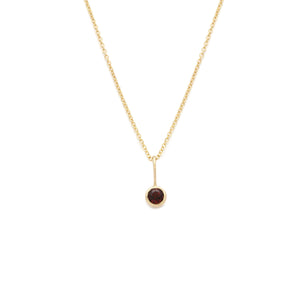 Coveted Garnet Pendant - 14k Solid Gold
