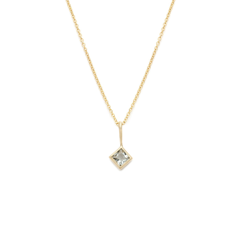 Coveted Aquamarine Pendant - 14k Solid Gold
