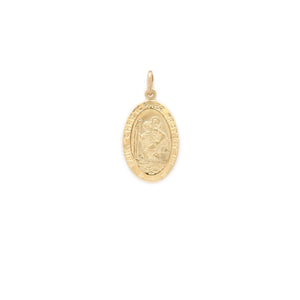 St. Christopher Oval Medallion - Gold Vermeil