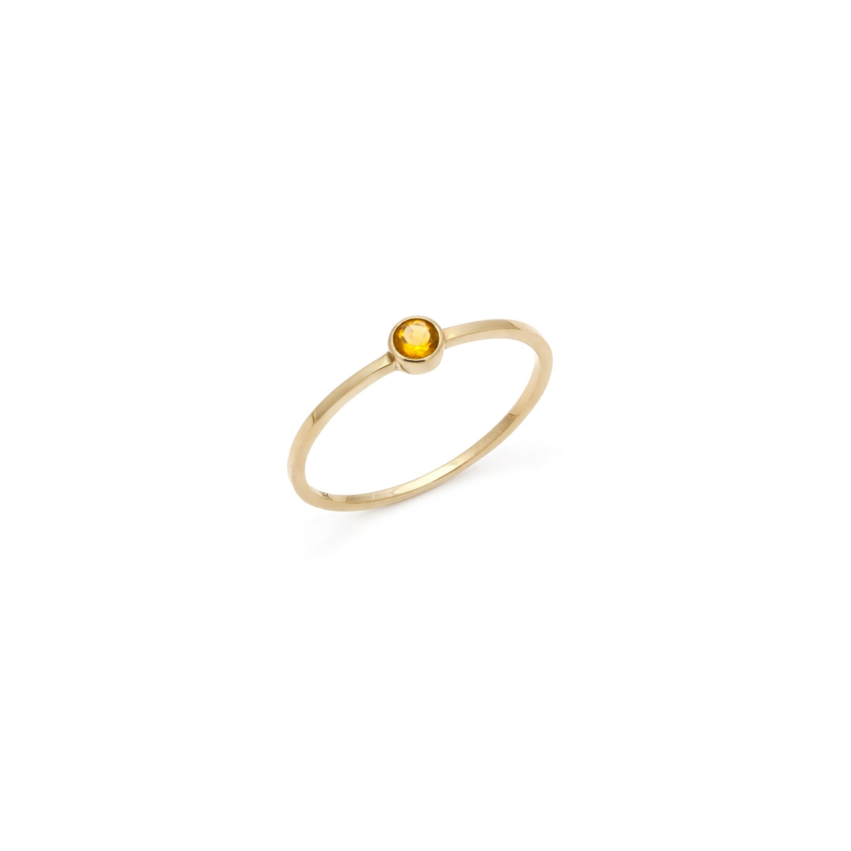 Coveted Citrine Ring - 14k Solid Gold