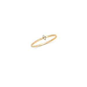 Diamond Duo Band - 14k Solid Gold