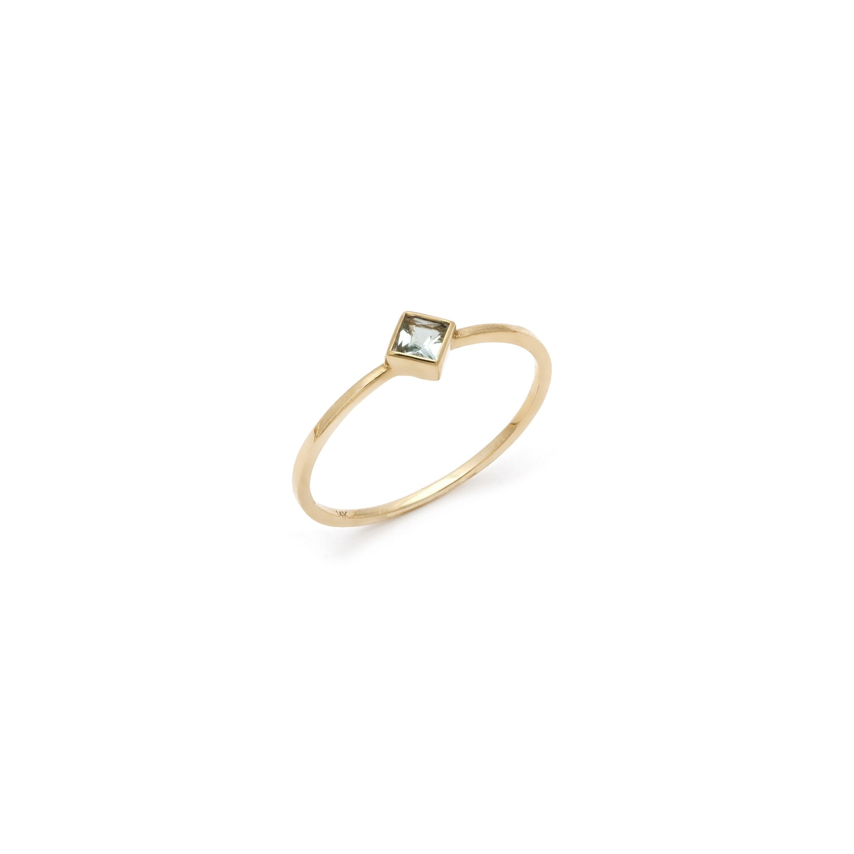 Coveted Aquamarine Ring - 14k Solid Gold