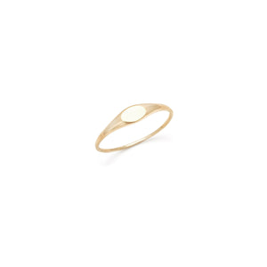 Mini Oval Signet - 14k Solid Gold