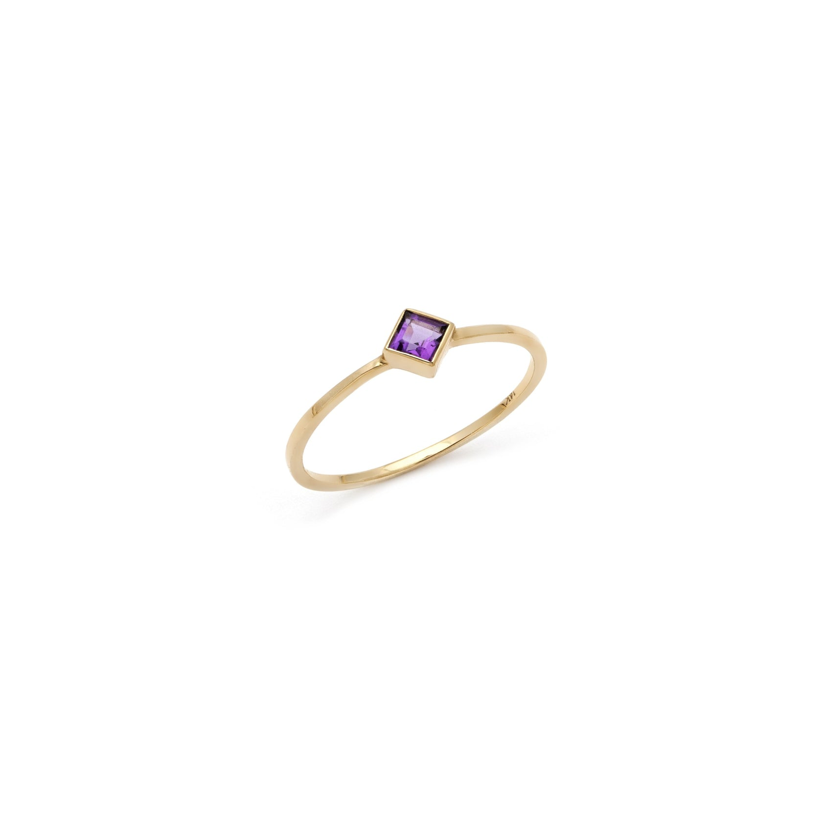 Coveted Amethyst Ring - 14k Solid Gold