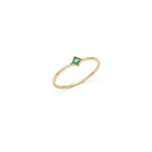 Coveted Emerald Ring - 14k Solid Gold