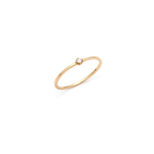 Coveted White Sapphire Ring - 14k Solid Gold