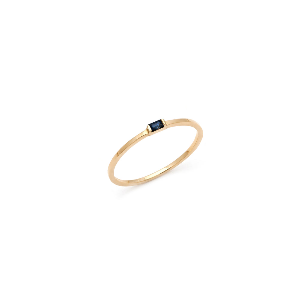 Double Band Ring-Moonstone/Gold