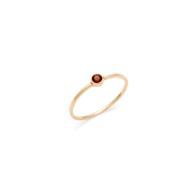 Coveted Garnet Ring - 14k Solid Gold