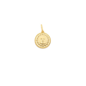 Sun and Moon Medallion - Gold Vermeil