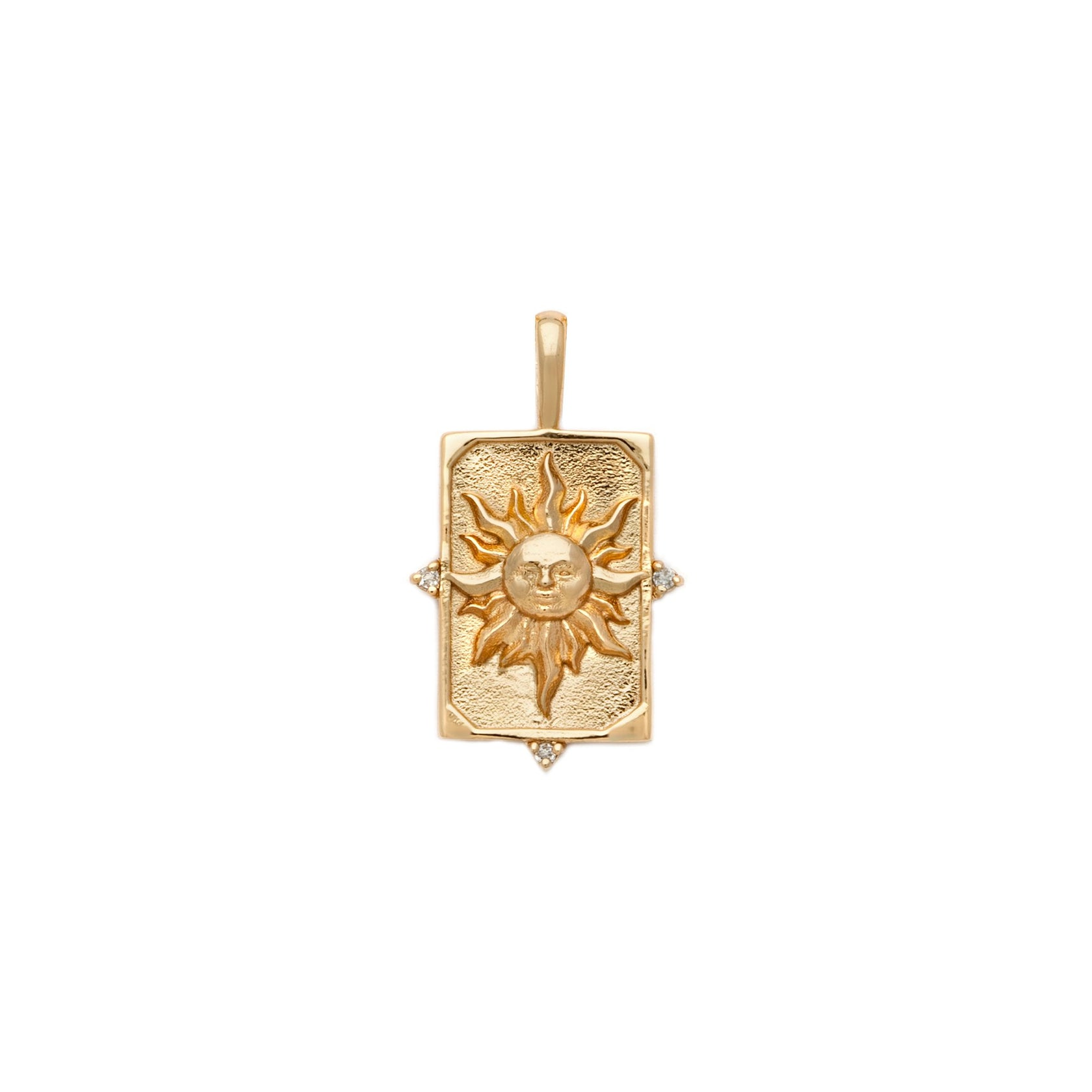 The Sun Tarot Pendant - Gold Vermeil
