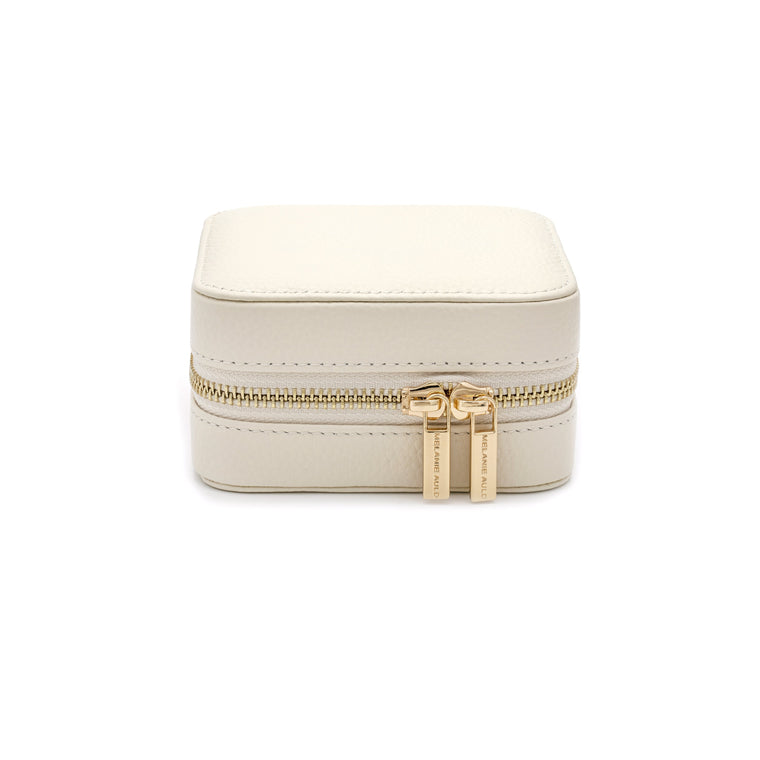 Leather Travel Case in Ivory