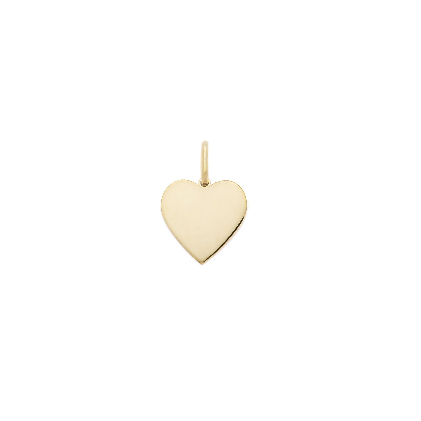 10mm Heart Charm - Gold Vermeil