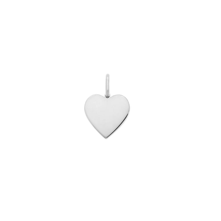 10mm Heart Charm - Sterling Silver