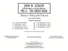 Load image into Gallery viewer, Schaum Piano Course - Pre A - The Green Book