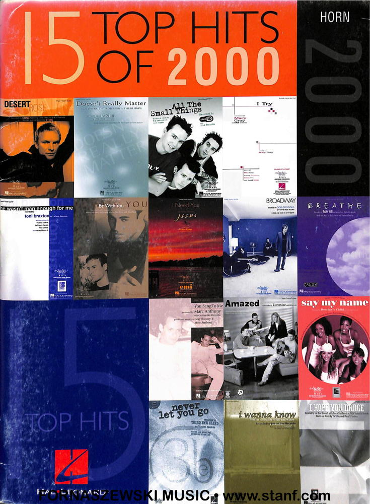 Hal Leonard - 15 Top Hits of 2000 - Horn