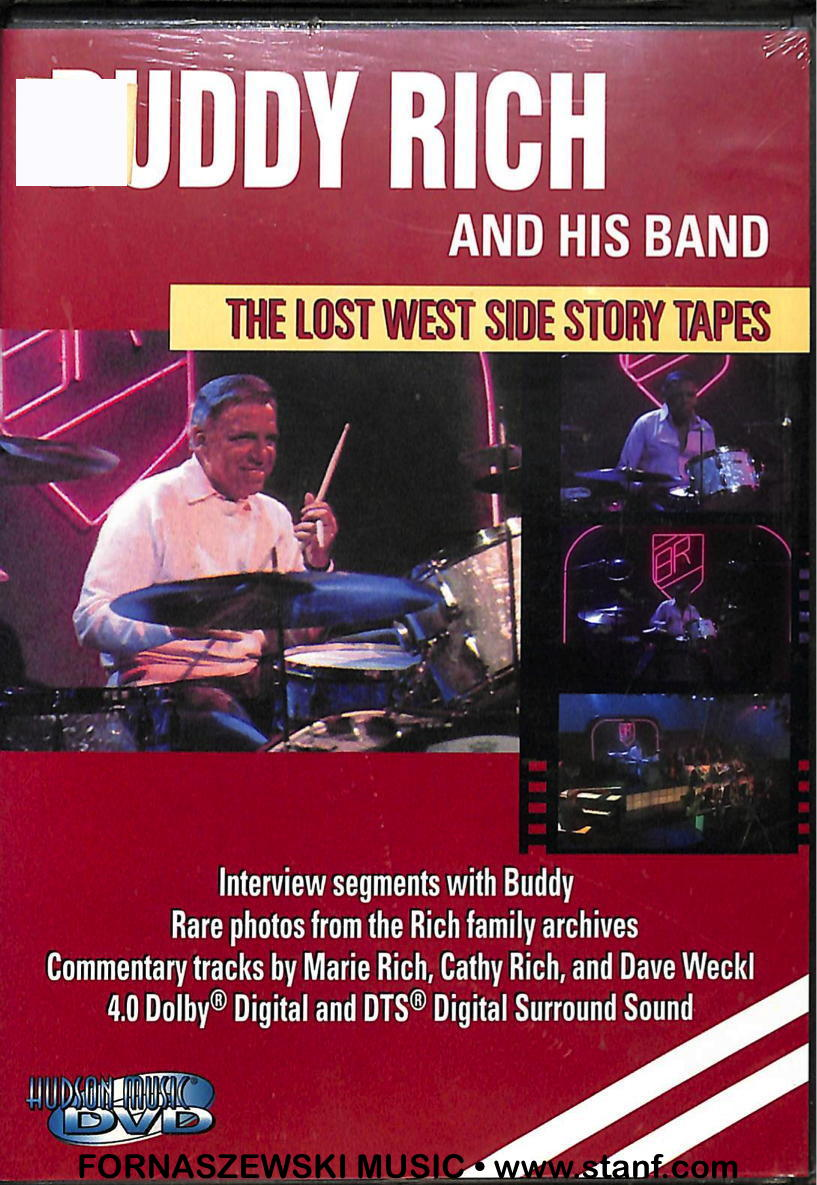 Buddy Rich - Lost West Side Story Tapes - DVD - Fornaszewski Music Store, Granite City IL 62040 - www.stanf.com