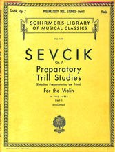 Load image into Gallery viewer, Schirmer - Sevcik Prep Trill Studies for Violin - Part 1