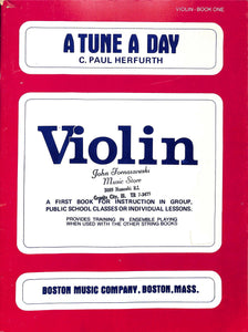 Herfurth - A Tune A day - violin method - book 1