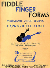 Load image into Gallery viewer, Koch - Fiddle Finger Forms - Violin Technic