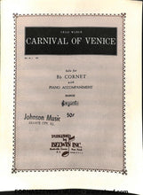 Load image into Gallery viewer, Carnival of Venice (Weber) - Solo Cornet/Trumpet w/Piano