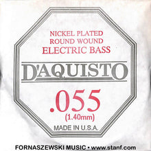 Load image into Gallery viewer, .055 Nickel Plated Roundwound - D'Aquisto Electric Bass Guitar String - Fornaszewski Music Store, Granite City IL 62040 - www.stanf.com