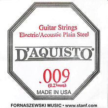 Load image into Gallery viewer, .009 Plain Nickel Silver - D'Aquisto - Electric / Acoustic Guitar String - Fornaszewski Music Store, Granite City IL 62040 - www.stanf.com