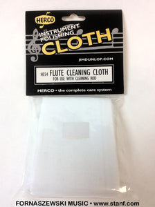 Herco HE54 Flute Cleaning Rod Cloth - Fornaszewski Music Store, Granite City IL 62040 - www.stanf.com