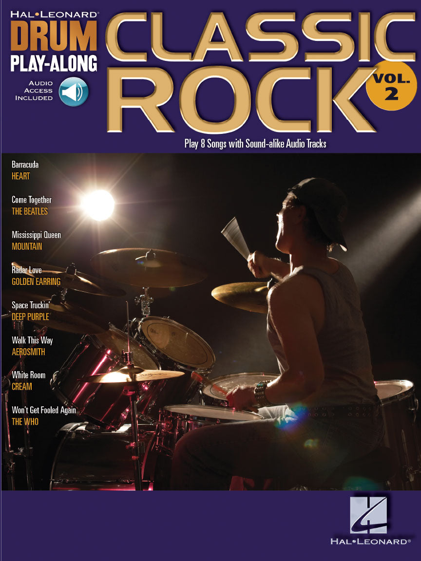 Play Along - Classic Rock Vol 2 - Drumset Book/Audio - Fornaszewski Music Store, Granite City IL 62040 - www.stanf.com