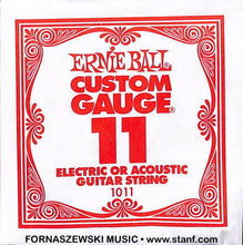 Load image into Gallery viewer, .011 Plain - Ernie Ball  - Custom Gauge Electric / Acoustic Guitar String - Fornaszewski Music Store, Granite City IL 62040 - www.stanf.com