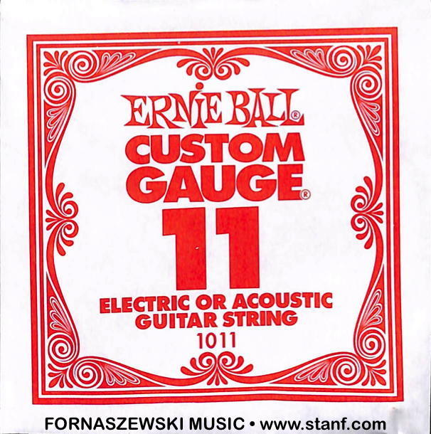 .011 Plain - Ernie Ball  - Custom Gauge Electric / Acoustic Guitar String - Fornaszewski Music Store, Granite City IL 62040 - www.stanf.com