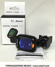 Load image into Gallery viewer, Alvarez AT15 - Digital Chromatic Clip-on Tuner for Guitar / Bass / Violin / Ukulele