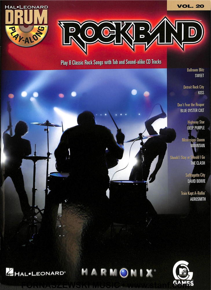 Play Along - Rock Band Vol 20 - Drumset Book/Audio