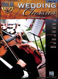 Hal Leonard - Play Along Wedding Classics - Violin - Vol 12 - CD