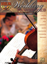 Load image into Gallery viewer, Hal Leonard - Play-Along Wedding Favorites - Violin - Vol 13 - CD