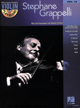 Load image into Gallery viewer, Hal Leonard - Play Along Stephane Grappelli - Violin - Vol 15 - CD