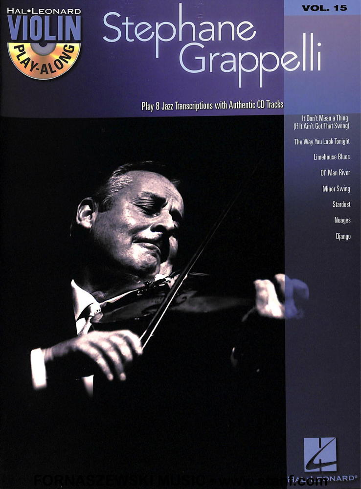 Hal Leonard - Play Along Stephane Grappelli - Violin - Vol 15 - CD